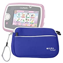 """DURAGADGET Blue 8"""" Neoprene Carry Case with Front Storage Compartment for NEW Leapfrog EPIC Tablet / LeapPad 3 / LeapPad 3x / LeapPad Ultra XDI"""