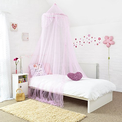 Home and More Store Princess Bed Canopy - Pink (Kid Canopy Bed compare prices)