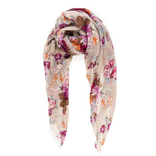 Scarves for Women Lightweight Floral Flower Fall Winter Fashion wrap by MIMOSITO (MSS11)