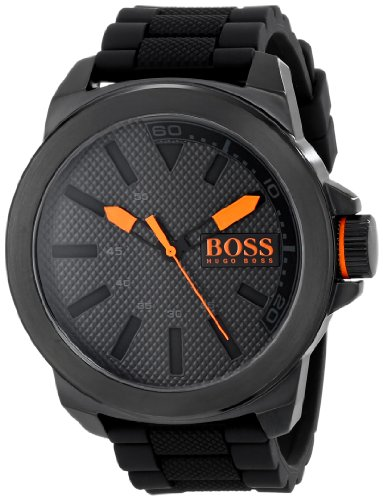 HUGO BOSS Orange Men's 1513004 New York Black Stainless Steel -