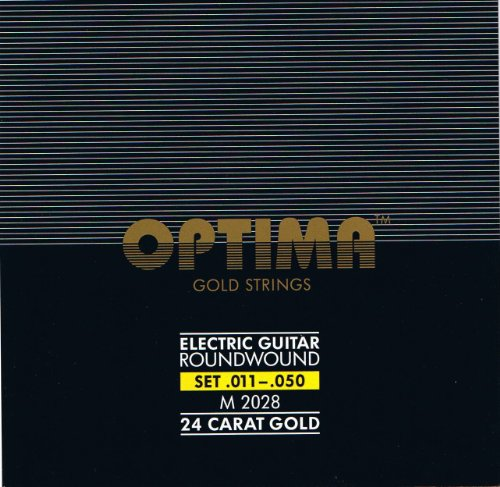 Optima 24 K Gold Plated Electric Guitar Strings .011-.050 by Optima Musical Strings