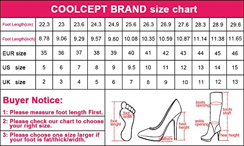 Coolcept Women High Heel Sandals Platform Peep Toe Stiletto Shoes Elegant for Wedding Party White Xa0z1GtqI
