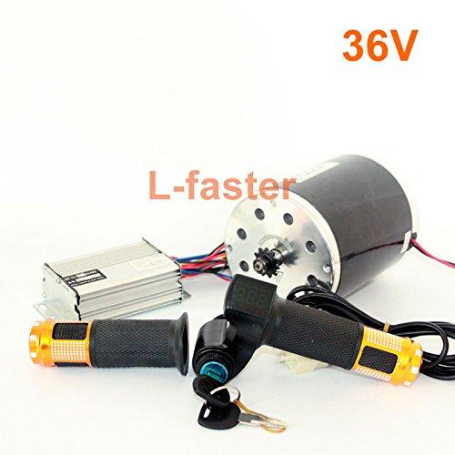 36v48v 1000ワットunitemotor MY1020モーターでスロットルとコントローラ高電力電気スクーターチェーンドライブエンジンdiy gocartキット [並行輸入品] B078MFXQB4 36V upgraded kit 36V upgraded kit
