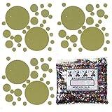 Confetti MultiShape New Bubbly Gold Mix - Half Pound Bag (8 oz) FREE SHIPPING --- (CCP9819)
