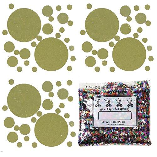 Confetti MultiShape New Bubbly Gold Mix - Half Pound Bag (8 oz) FREE SHIPPING --- (CCP9819) by Jimmy Jems