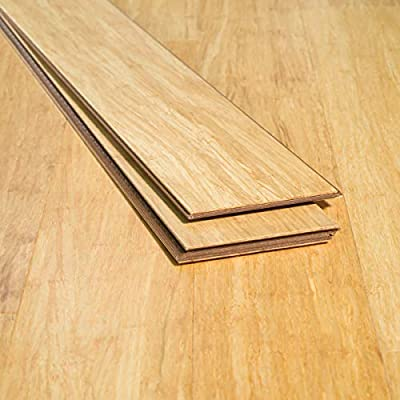 Ambient Bamboo - Bamboo Flooring Sample, Color: Natural 3 FT Lengths, Engineered Click Lock