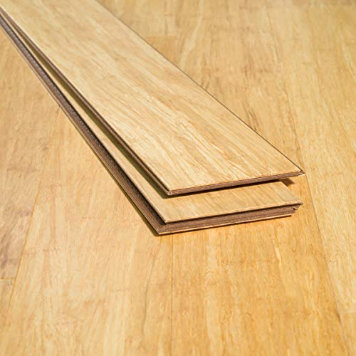 - Ambient Bamboo - Bamboo Flooring Sample, Color: Natural 3 FT Lengths, Engineered Click Lock