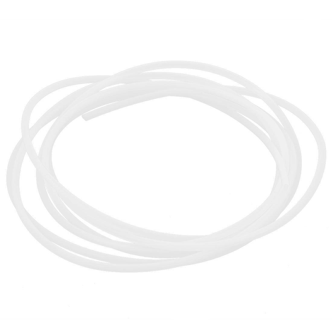 SODIAL(R) 1M Laenge 2mm ID 3mm OD PTFE Rohr Schlauch Leitung fuer 3D Druck RepRap weiss