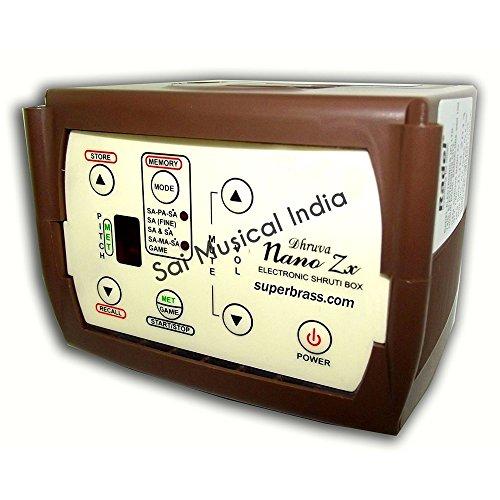 Queen Brass : Compact Digital Sur-Peti Shruti Box 4-in-1 Tuner. New 2014 Model by Queen Brass