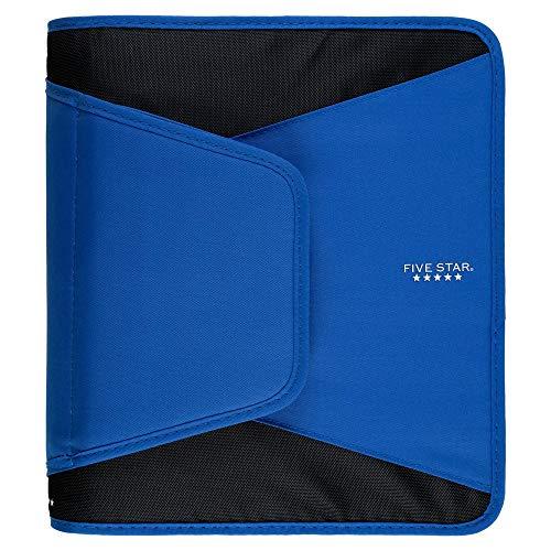 Five Star 1-1/2 Inch Zipper Binder, 3 Ring Binder, 3-Pocket Expanding File, Durable, Blue (72202) ()