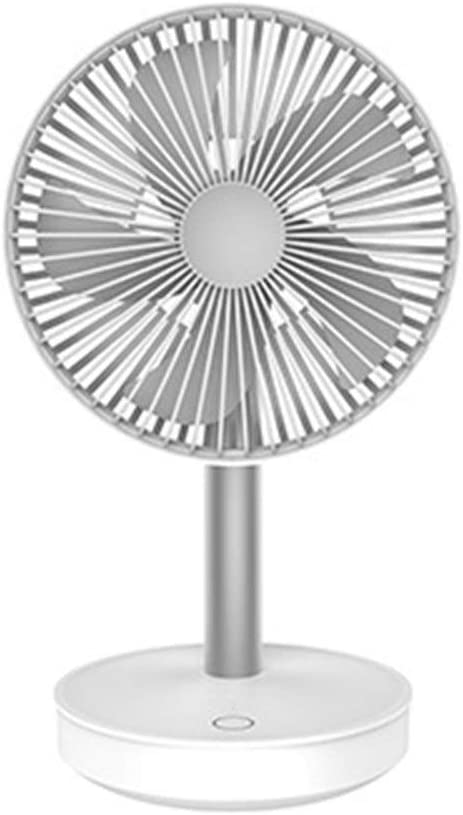Color : Silver Mini Portable Cooling Fan Cooling Fan 3-Speed Adjustable Portable Mini Hand Fan 4000mAh Rechargeable USB Desk Air Cooling Fan