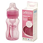 Dr. Brown's BPA Free Baby Bottles 8 Oz. - Pink - 3 Pack