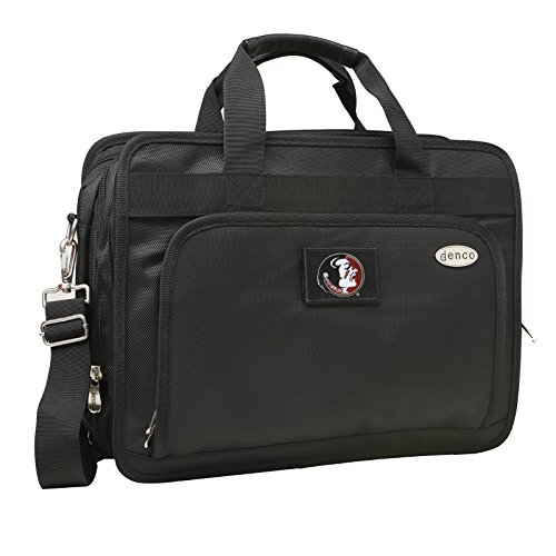 NCAA Florida State Seminoles Expandable Laptop Briefcase, 13-Inch, Black by Denco