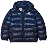 adidas Kid's Down Jacket, Collegiate Navy/Trace Blue, Size 152