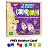 4-way Countdown with Free Rainbow Dice Pack by Poof Slinky