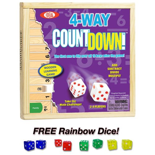 4-way Countdown with Free Rainbow Dice Pack by Poof Slinky by Poof Slinky