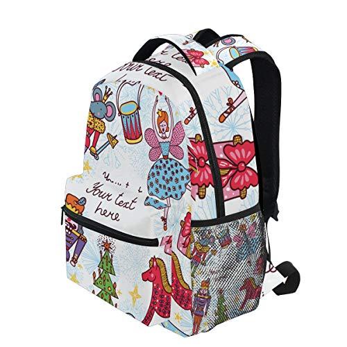 KVMV Nutcracker Lightweight School Backpack Students College Bag Travel Hiking Camping -
