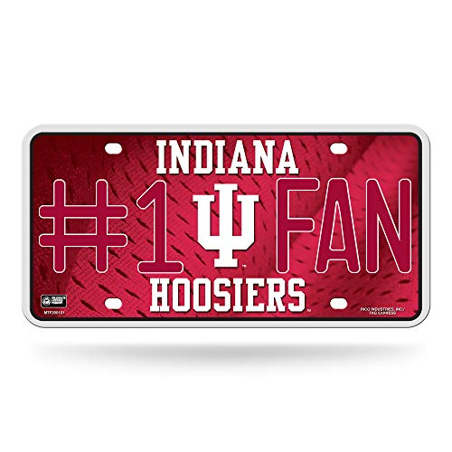 Hoosiers Metal Indiana (NCAA Indiana Hoosiers #1 Fan Metal License Plate Tag)