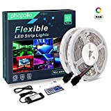 PHOPOLLO LED Strip Lights, 32.8ft 10m RGB Color Changing SMD 5050 300leds Flexible LED Tape Kit with 44-Key IR Remote Ideal for Home Bedroom Kitchen and Party, 12V Power Supply: more info