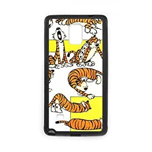2015 CustomizedNote4 Case Wonderful Calvin and Hobbes Tigers Action SamSung Galaxy Note4 (Laser Technology)