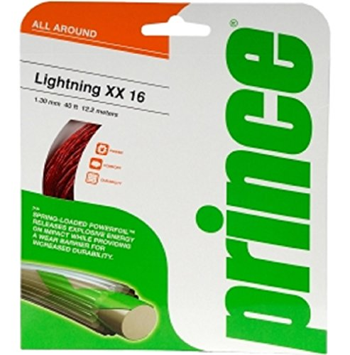 Prince Lightning XX 16g 1.30 mm Red Tennis String – 2 Packs