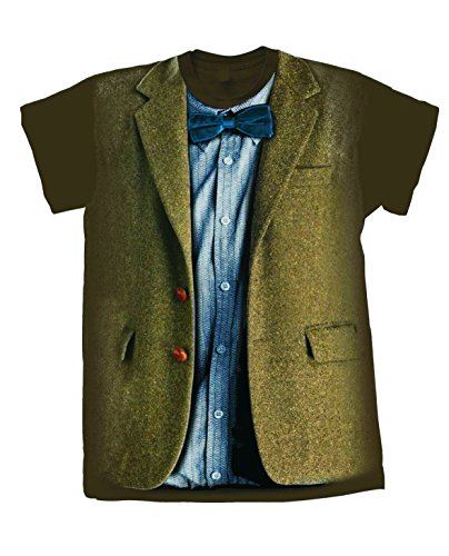 Dr Doctor 11th Who Costume (Doctor Who Matt Smith 11th Doctor Costume Mens T-Shirt)