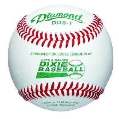 Diamond Dixie Boys & Majors Competition Grade Baseball, Dozen by Diamond Sports