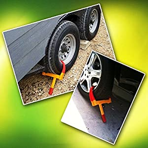 Zone Tech Security Tire Clamp - Premium Quality Heavy Duty Anti- Theft Protective Vehicle Wheel Lock