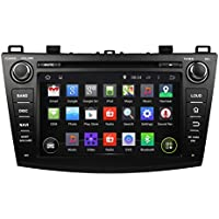 KUNFINE Android 6.0 Otca Core Car DVD GPS Navigation Multimedia Player Car Stereo For Mazda 3 2009 2010 2011 2012 2013 Steering Wheel Control 3G Wifi Bluetooth Free Map Update 8 Inch