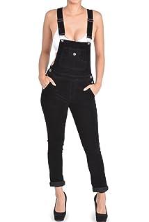 6ed13671e5c3 Amazon.com  Cima Mode Women Ladies Light Wash Denim Short Pinafore ...