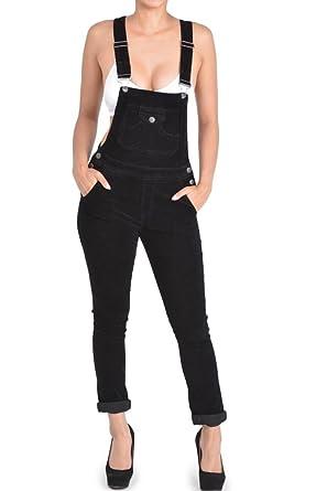071f89e3e7b G-Style USA Women s Corduroy Overalls RJHO446 - Black - Small - S1G