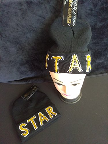 [Beanie Skull Knit Rhinestone Bling Womens Ladies Teens Cap Hat (NAVY) Star] (Dragon Old Navy Costume)