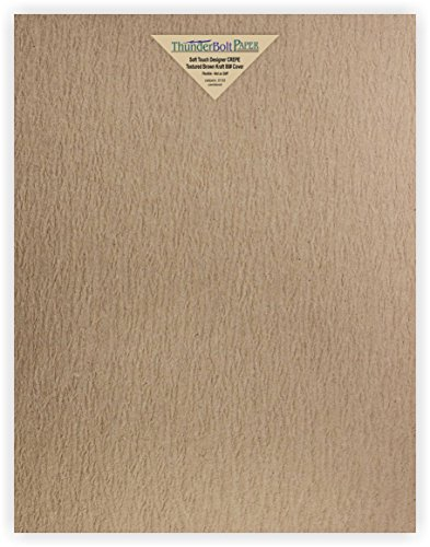 20 New Soft Touch Designer Crepe Brown Kraft Cover Paper 11 X 14 inches, Thick 80lb Card Sheets - Texture Runs Long -Scrapbook|Picture-Frame Size -Textured Premium Quality, Flexible - Blank Cardstock (Cardstock Textured Scrapbook)