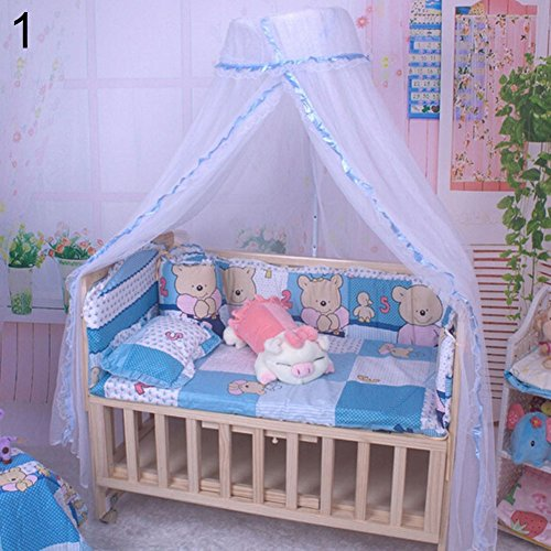 top0dream Summer Screen Repellant Netting Curtain Portable Hammock Bed Curtains Window Sills Mosquito Tents Dome Bed Curtain Baby Canopy Net Mosquito Tent Bed Crib Netting Bedroom Decor - Blue