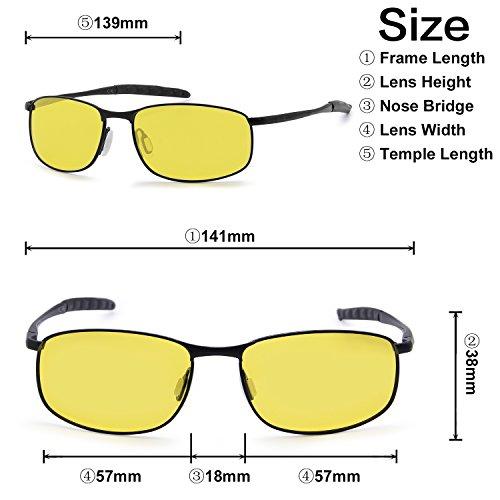 Negro Hombre Gafas De Polarizadas Deportivas Amarillo Para Sol AMZTM Gafas P8Hx6w