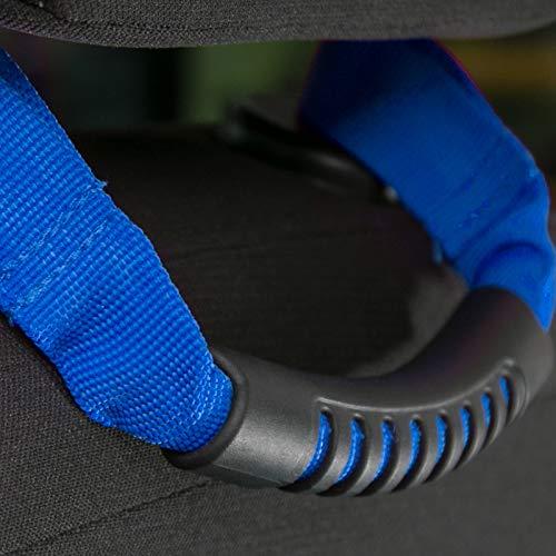2 PCS Car Interior Armrest Front Seat Headrest Grab Handle for Jeep Wrangler TJ CJ YJ JK JL (Blue)