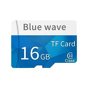 Daliuing Tarjeta Micro SD de 16GB 10 Clase 90MB / s Tarjeta de Memoria SchSD MicroSD con Adaptador SD, para Tarjeta de Memoria de Video HD