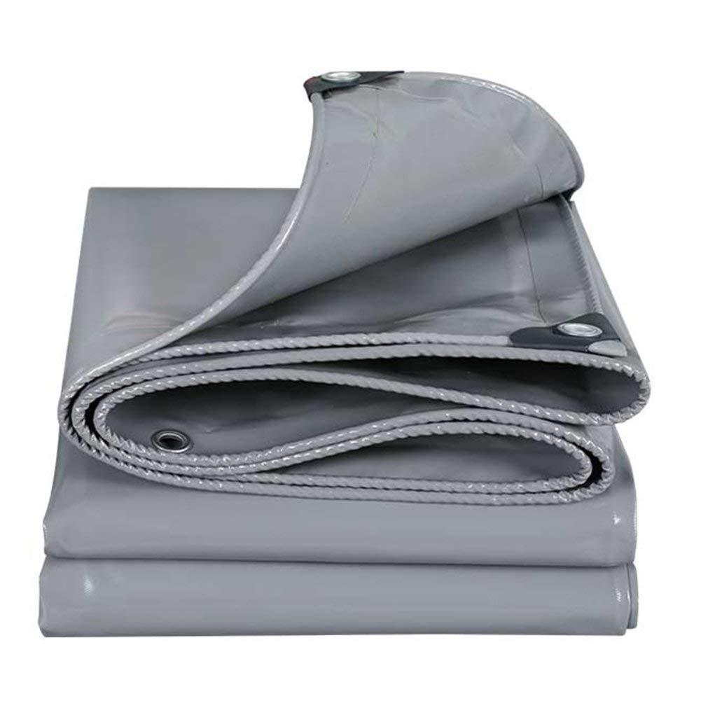 防水保護グレーキャンバス耐磨耗日焼け止めポリエステル、厚さ0.5MM、マルチサイズオプション(3×3m) (色 : Gris, サイズ さいず : 4m × 7m) 4m × 7m Gris B07K8M7H6P