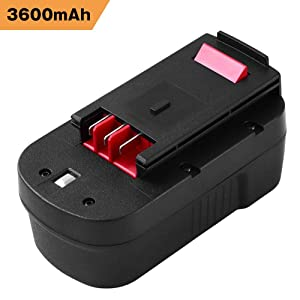 Upgraded 3600mAh HPB18 Replacement for Black and Decker 18V Battery HPB18-OPE 244760-00 A1718 FSB18 FS18FL Firestorm Cordless Power Tools