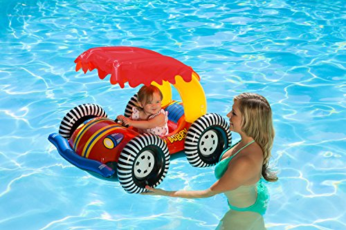 Poolmaster 81549 Learn-to-Swim Baby Buggy Baby Float Rider with Shade Top