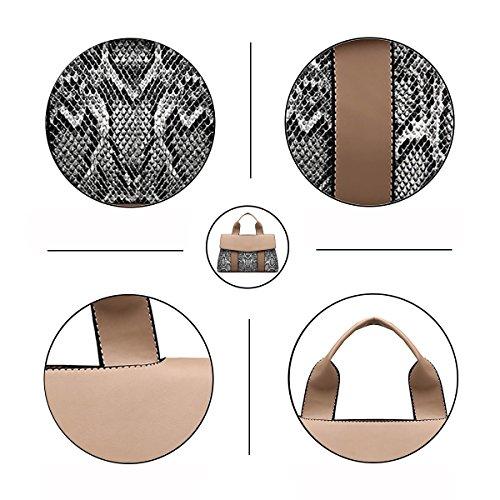 Handbags Elegant Design Large Tisdaini Women's Bags Bag Fashion Khaki Brown Ladies for Black Leather pu Purse Shoulder Bw85Yq