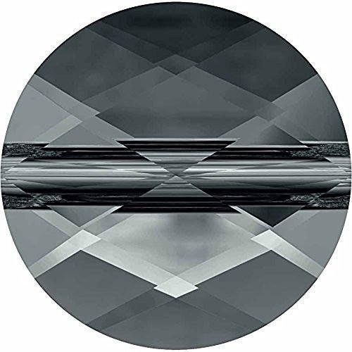 Cube Mini Beads (5052 Swarovski Crystal Beads Mini Round 8mm | Black Diamond | 8mm - Pack of 2 | Small & Wholesale Packs)