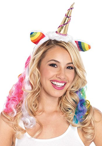 Leg Avenue Rainbow Unicorn Headband Costume Accessory, Multicolor, One Size