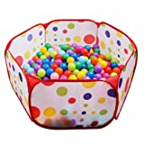 FocuSun-Portable-Cute-Hexagon-Polka-Dot-Kids-Playpen-Ball-Pit-Indoor-and-Outdoor-Easy-Folding-Play-House-Children-Toy-Play-Tent-with-Tot