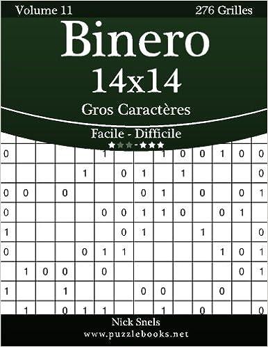 Binero 14x14 Gros Caracteres Facile A Difficile Volume