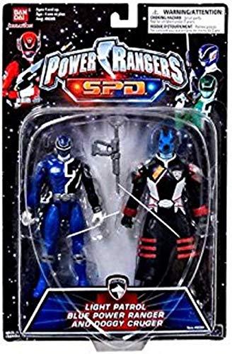 Power Rangers SPD Space Patrol Delta 2-Pack Blue Light Ranger and Commander Doggy Cruger MOC NEW (Power Light Spd Rangers)