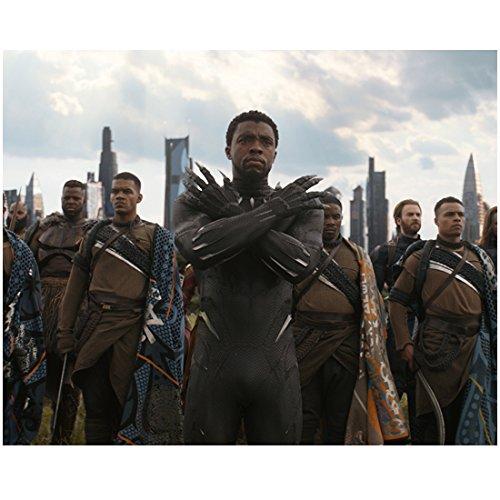 Avengers Chadwick Boseman as Black Panther Infinity War Standing Ready 8 x 10 Inch (Panthers Photograph)