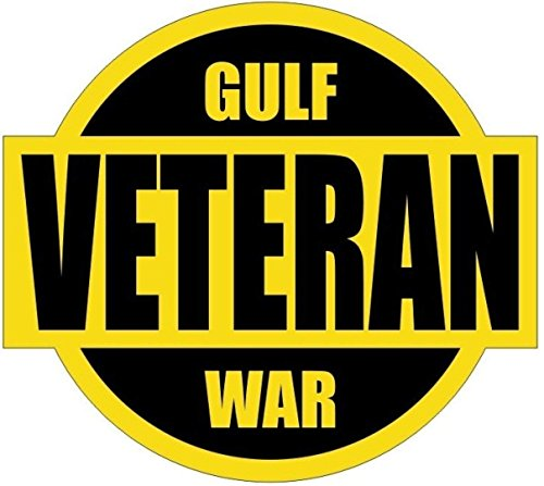 MFX Design Gulf War Veteran Helmet Sticker Decal Toolbox Sticker Decal Lunch Box Laptop Sticker Decal Vinyl - Made in USA 2.25 in. x 2 -