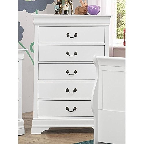 Coaster Home Furnishings Louis Phillipe 5-Drawer Chest White