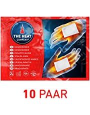 THE HEAT COMPANY Handwarmers - EXTRA WARM - Hand Heat Pads - 12 Hours Warm Hands - Instant Heat - Air Activated - Purely Natural - 10 or 40 Pairs